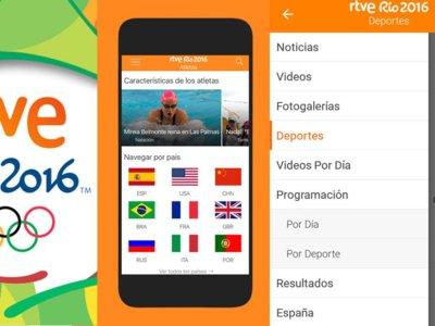 RTVE estrena app para seguir los JJOO con 19 señales en directo y cuatro canales exclusivos