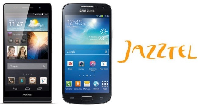 Prices Samsung Galaxy S4 Mini and Huawei Ascend with Jazztel P6