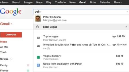 Google integra Calendar y Drive en la búsqueda de Gmail, por ahora sólo en EEUU