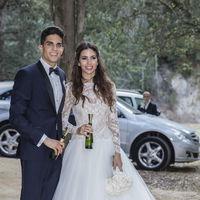 """Y llegó el día: Melissa Jiménez y Marc Bartra se dan el """"sí, quiero"""""""