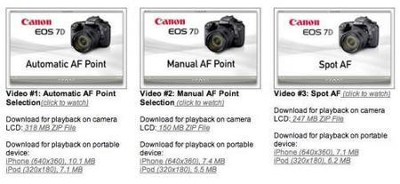canon 7d videos