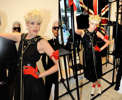 Agyness Deyn en la presentación de la nueva tienda de Chanel