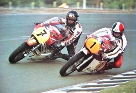 Giacomo Agostini Barry Sheene Suzuki 500