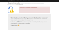 Proof of Existence, certificando documentos con Bitcoin