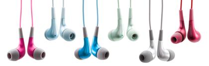 Griffin TuneBuds de colores para el iPod nano