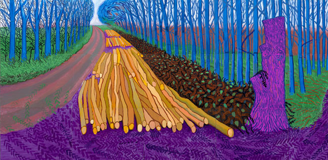 Tala de Invierno, David Hockney