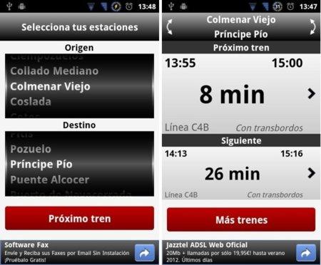 Próximo Tren para Android, para llegar siempre a tiempo