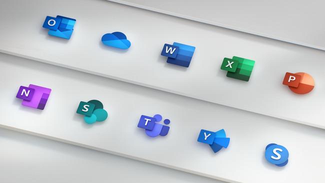 Microsoft rediseña los iconos de Office con su nuevo lenguaje de diseño más limpio, moderno y atractivo