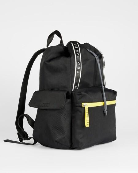 Branded Nylon Drawstring Backpack