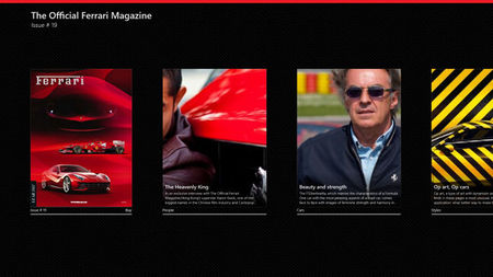 Tres aplicaciones de Ferrari en la tienda de Windows 8