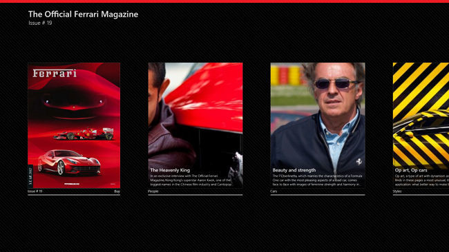 The Official Ferrari Magazine para Windows 8