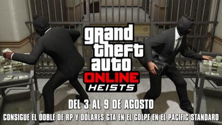 GTA Online: obtén doble RP y GTA$ en el Golpe en el Pacific Standard durante esta semana