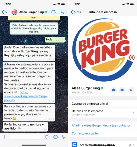 Burger King Whatsapp Cdmx Mexico