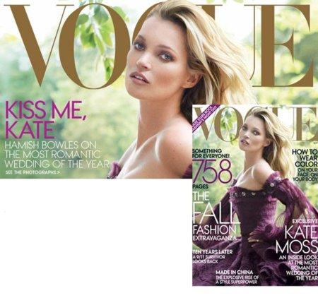 Kate Moss para Vogue USA: la portada