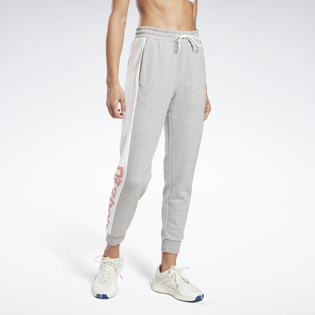 Pantalon Linear Logo French Terry Gris Gn5414 01 Standard