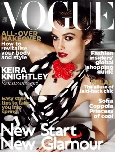 Keira Knightley en la portada de Vogue: vuelven los lunares
