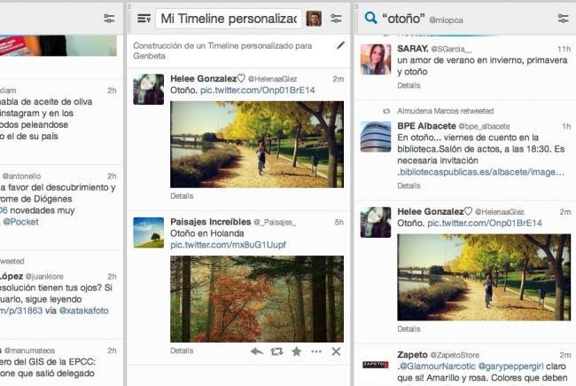 tweetdeck timelines personalizados