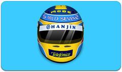 Icono del casco de Fernando Alonso