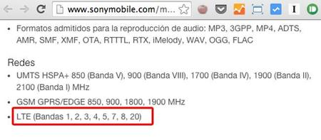 Sony Lte