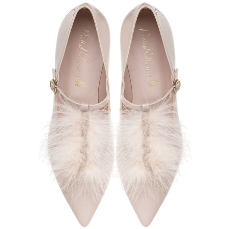 Ella Pink Feather T Bar Pair