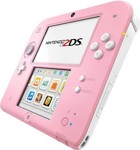 La Nintendo 2DS se pasa al lado más rosa