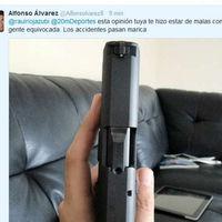 Twitter, ese sitio donde ya no te trollean, te mandan fotos de pistolas como amenaza