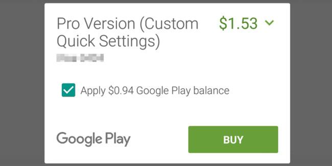 Google Play Balance