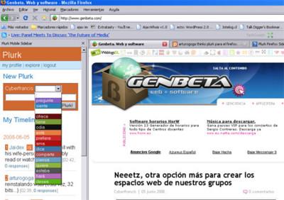 Plurk Mobile Sidebar, Plurk en la barra lateral de Firefox