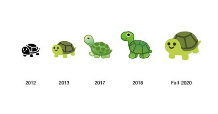 Android 11 Nuevo Diseno Emojis Tortuga