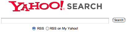 Yahoo está probando buscador de blogs y RSS