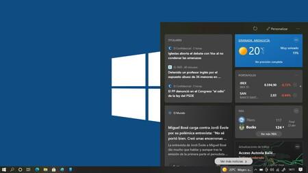 El nuevo widget de 'Noticias e intereses' ya está disponible en Windows Update para todos los usuarios de Windows 10