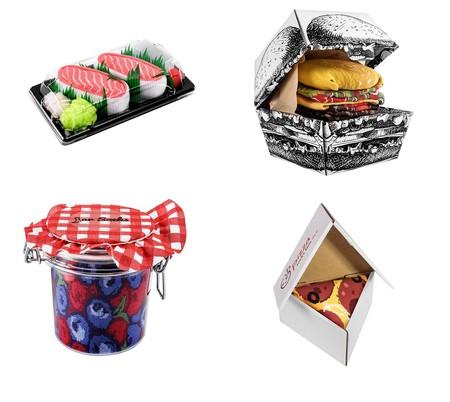 Calcetines empaquetados como si fuesen comida ¿el regalo más original de las navidades de 2020?