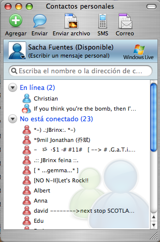 Microsoft Messenger for Mac 7
