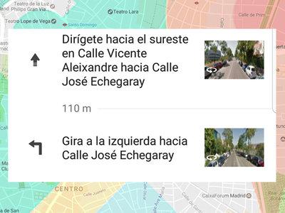 Google Maps ahora te muestra imágenes de Street View durante tu ruta
