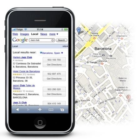 Búsquedas geolocalizadas con Google desde el iPhone