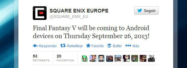 Final Fantasy V twitter