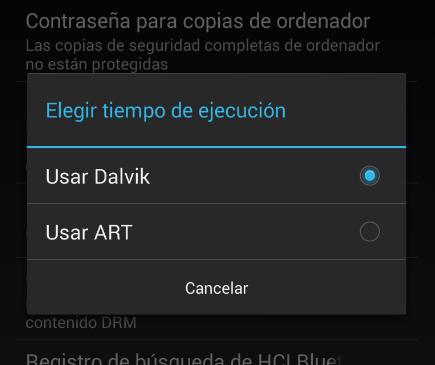 Android 4.4 KitKat experimenta sustituir Dalvik por ART para mejorar el rendimiento