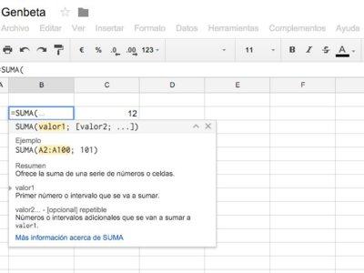 Google permite ahora usar funciones en español en su aplicación de Hojas de cálculo