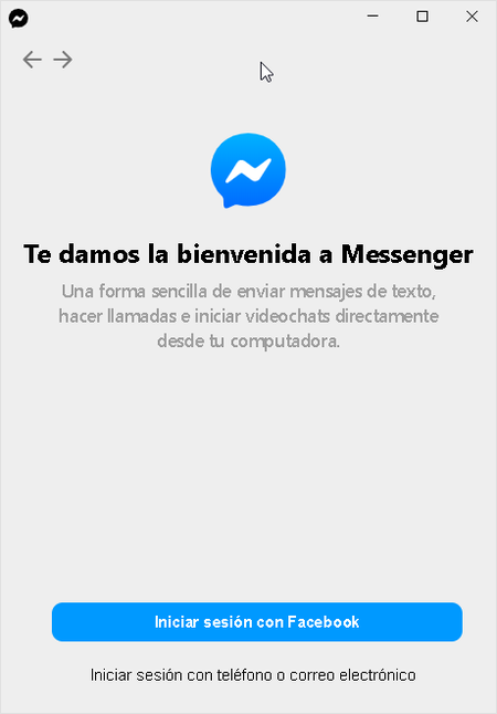 Facebook Messenger App Escritorio Windows 10