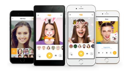 Egg, la nueva aplicación de LINE para hacer selfies creativas usando máscaras en 3D
