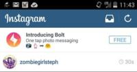 Instagram filtra la existencia de Bolt, su próxima aplicación