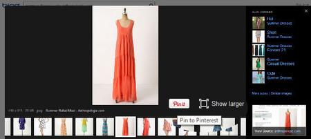 """Bing integra la función """"compartir en Pinterest"""" en las búsquedas de imágenes"""
