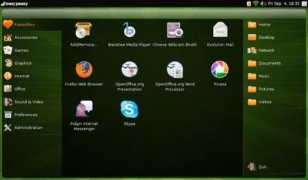 easypeasy, distribución de Linux para ultraportátiles