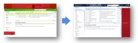 Menos publi en Hotmail