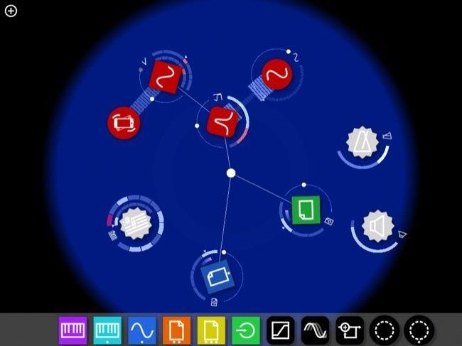 La aplicación con algunos de los elementos visibles en su dock