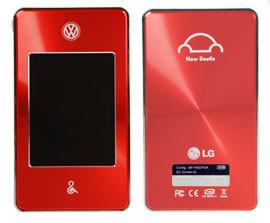 Reproductor MP4 de LG inspirado en el Volkswagen Beetle