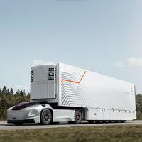 El nuevo concepto futurista de camión eléctrico de Volvo no necesita cabina ni conductor, porque también es autónomo