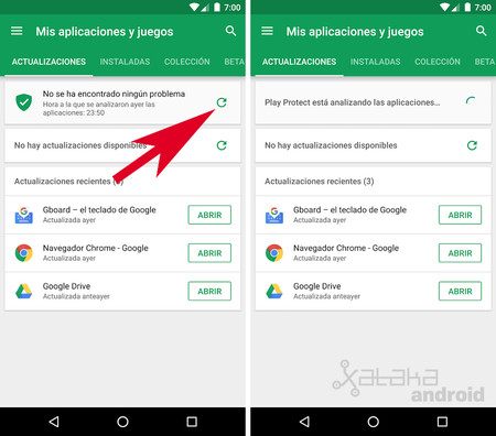 Google Play Protect: analizar
