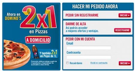 2x1 en Domino's Pizza también para entregas a domicilio