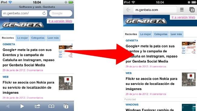 Abre en Chrome para iOS la página que estés viendo en Safari